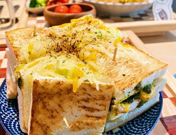 台北松山美食推薦~微風南京巷弄中的早午餐店「阿福號」,不只有好吃的三明治還有可愛的店狗!