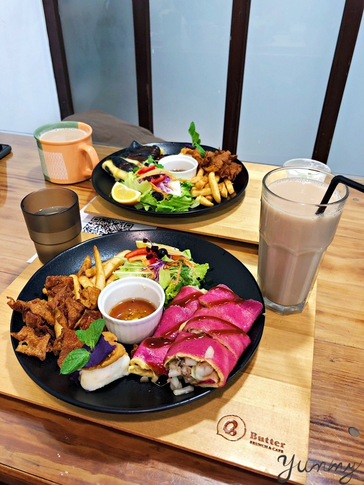 彰化早午餐推薦「Butter 巴特手作晨食」超澎湃早午餐,彩色蛋餅好吸睛!