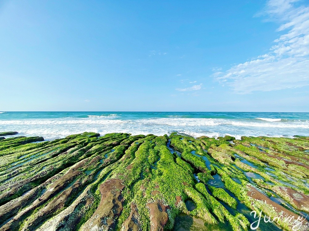 北海岸景點推薦~石門「老梅綠石槽」一片綠意盎然,讓人好不愜意!