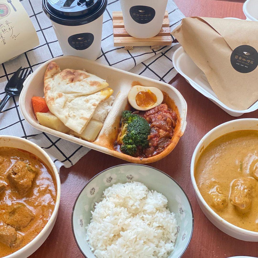 防疫外帶美食「盛食咖哩店」台中勤美綠園道人氣咖哩飯,印度風料理美味必吃!