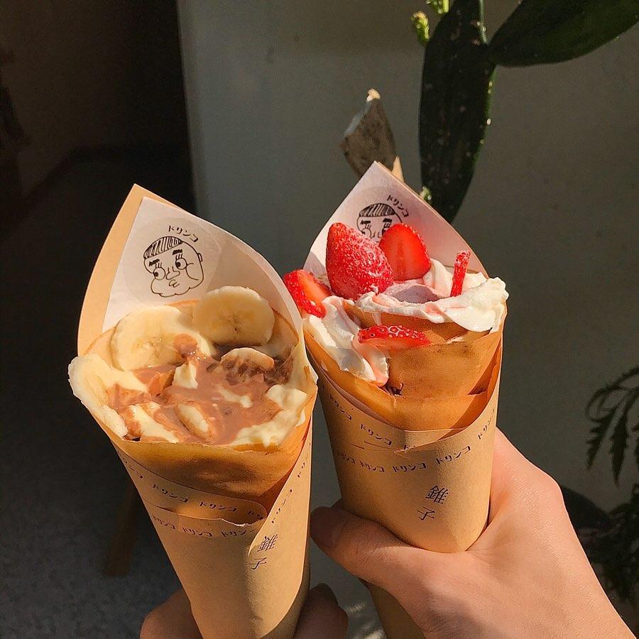 東門站甜點推薦「錐子可麗餅專賣店」台北也有美味日式可麗餅,捲筒造型超可愛!