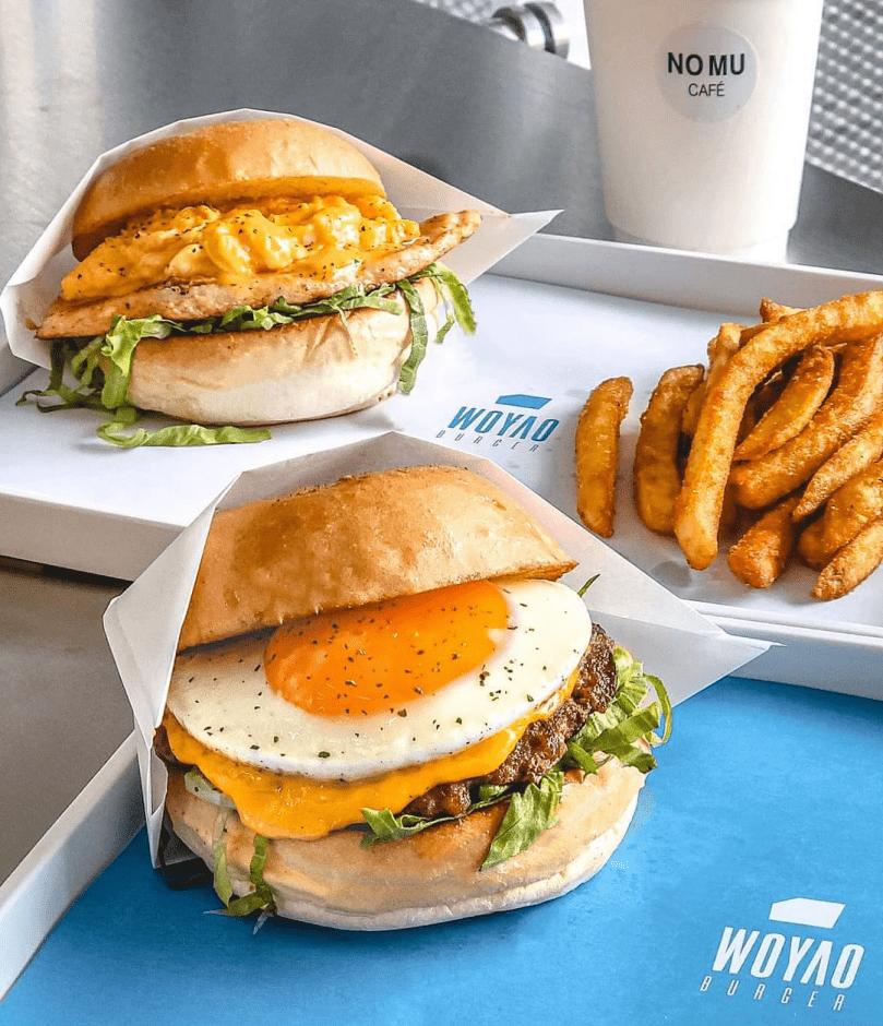 台北關渡站美食 我要漢堡 超人氣漢堡店 一份漢堡套餐只要200元,CP值超高!