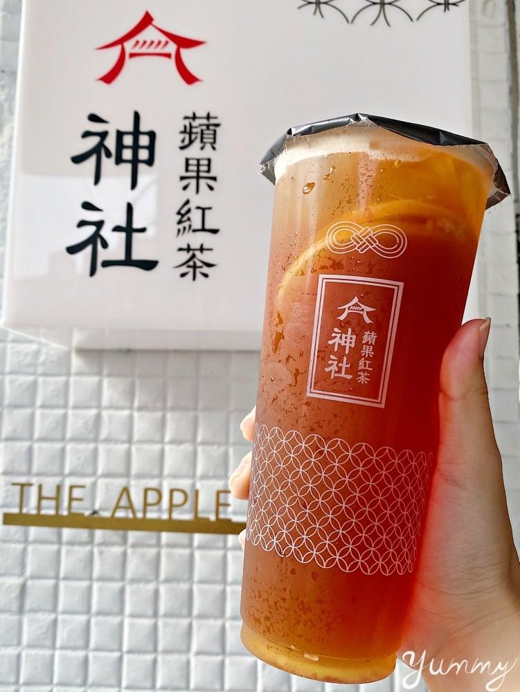 台中北區手搖飲推薦「神社蘋果紅茶」以日本神社為主題的飲料店,完熟林檎必喝!