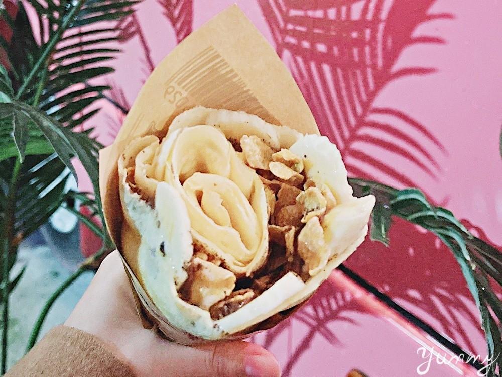 宜蘭美食「Holy Crepe」法式可麗餅,食尚玩家推薦,週末限定粉紅餐車網美必拍!