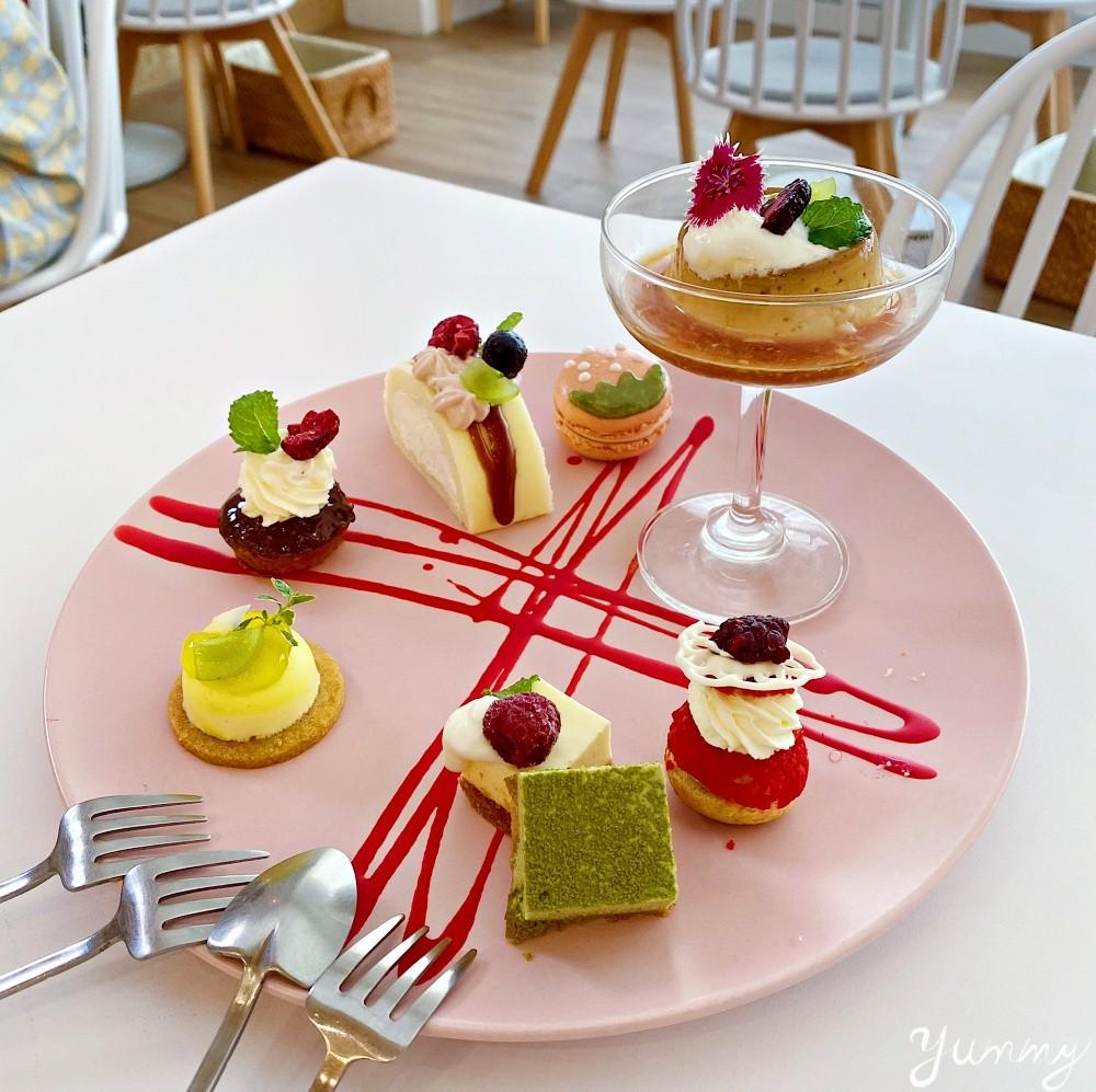 台南咖啡廳推薦「有一隻羊」韓系風格裝潢,午茶點心盤6種點心一次享用!